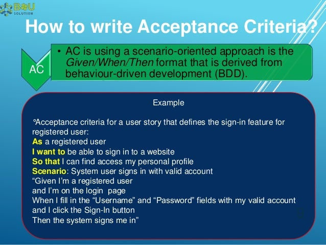 9 How To Write Acceptance Criteria