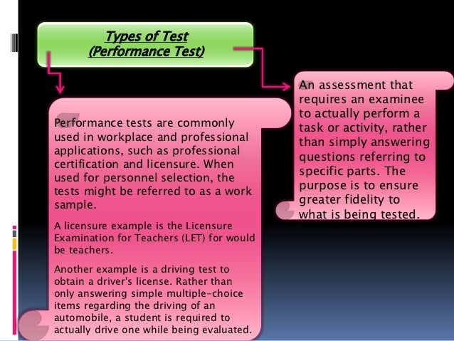 Describe the writing test items objective essay interpretive type