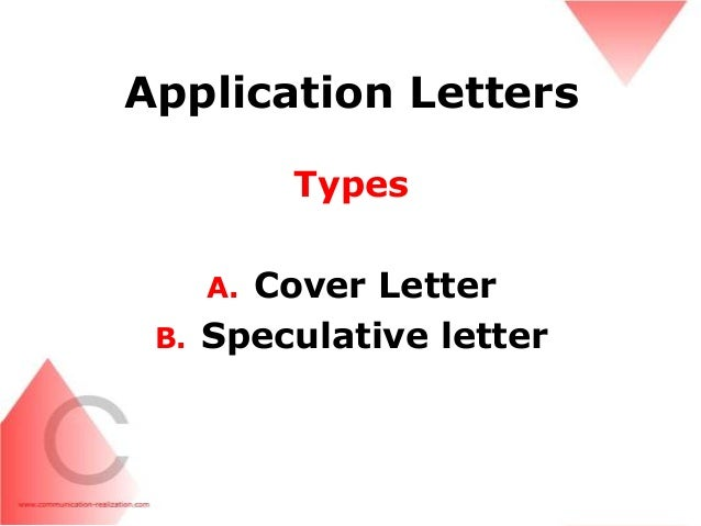 speculative application letter