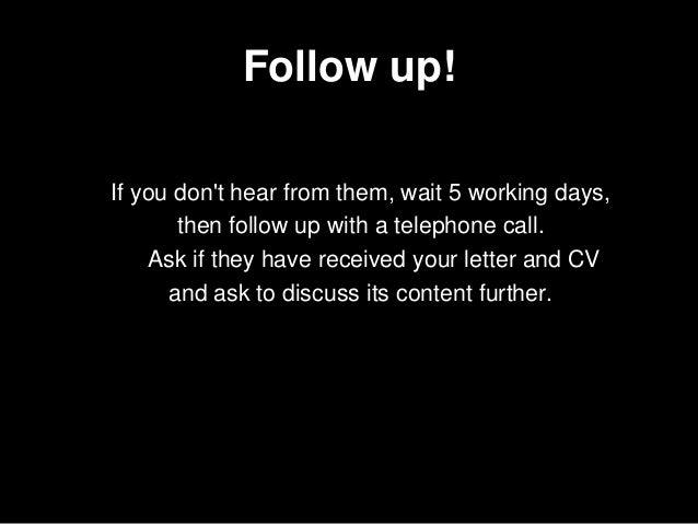 Writing The Application Letter Career Development
