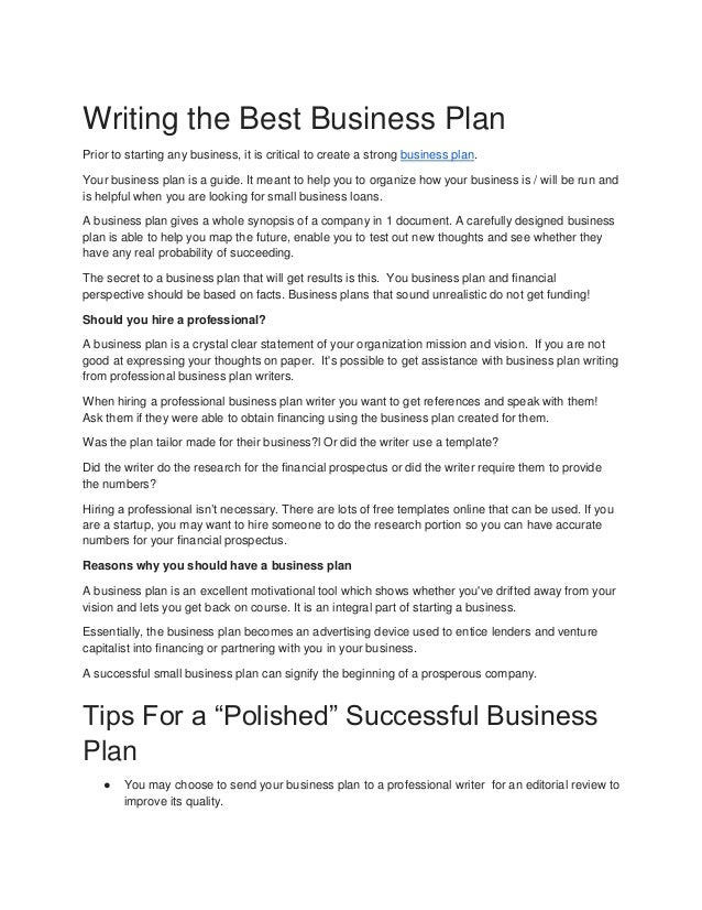 Professional business writter