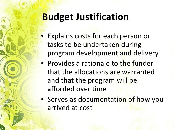 Writing The Budget For A Grant Proposal