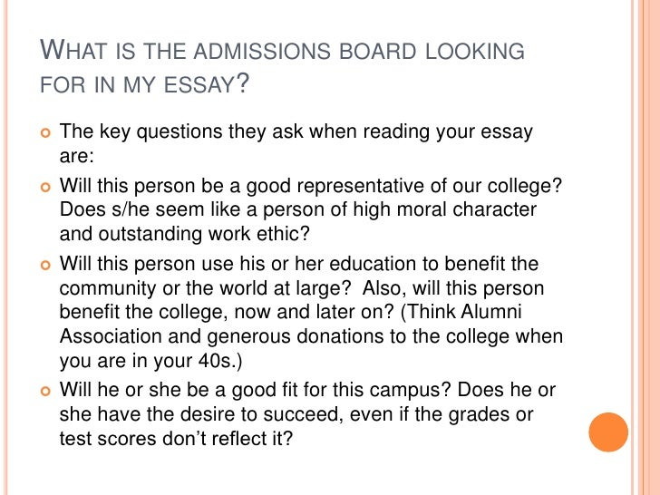 I Need Help Writing My College Admissions Essay