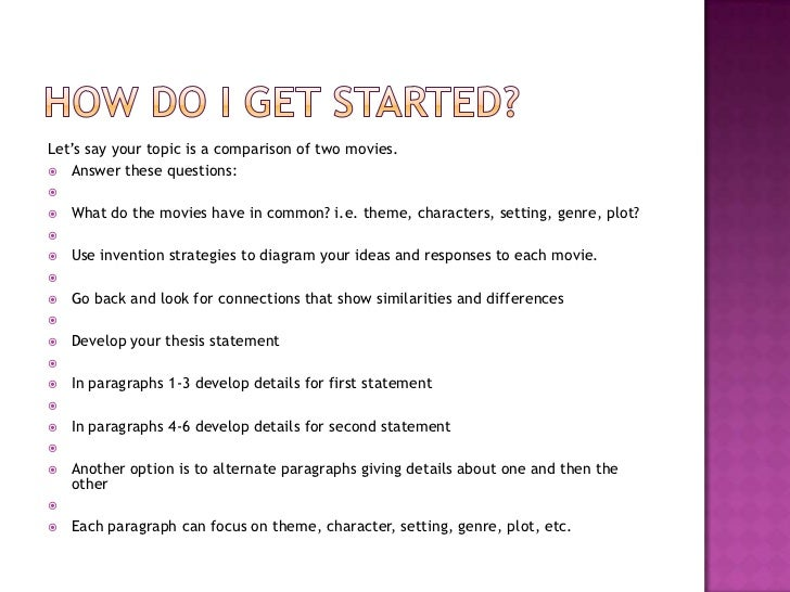Essay On Romance  Lets Say Your Topic Is A Comparison  Property Law Essay also Human Development Theories Essay Writing The Comparecontrastessay Essay Leadership Skills