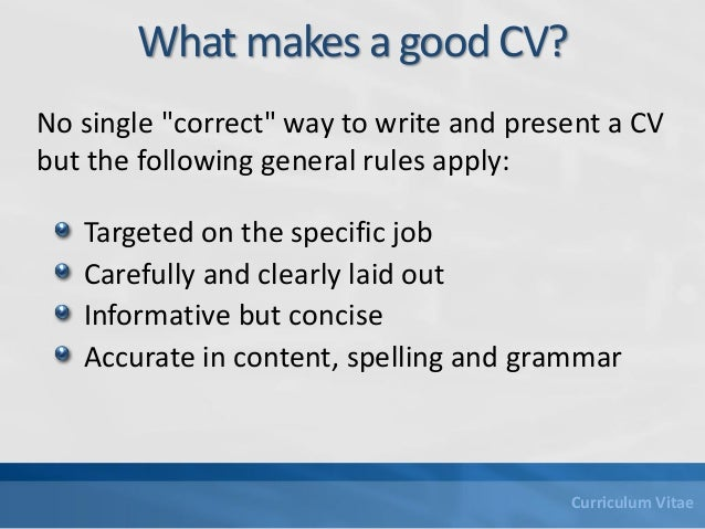 writing the curriculum vitae