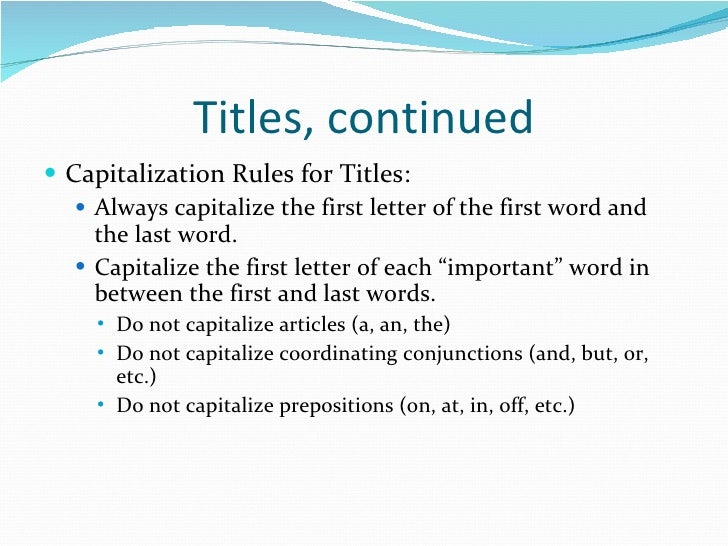 Writing a title capitalization generator