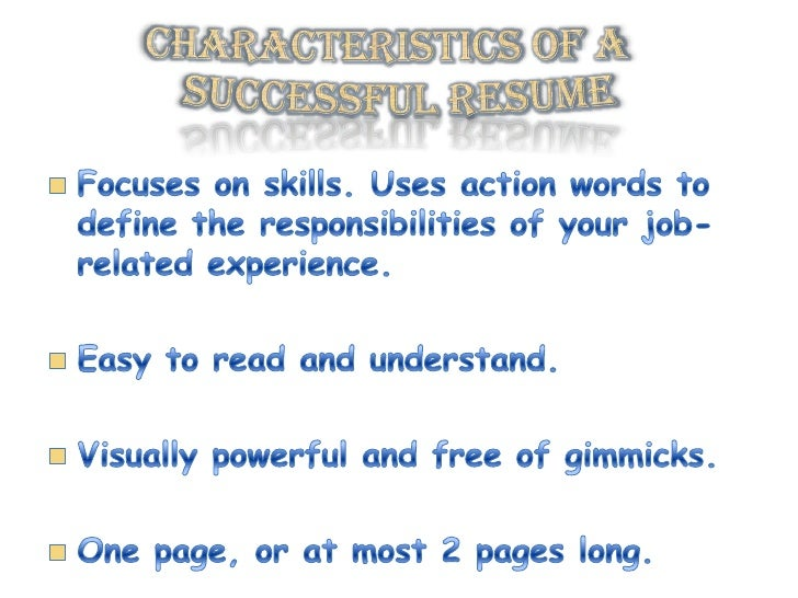 effective action words resume