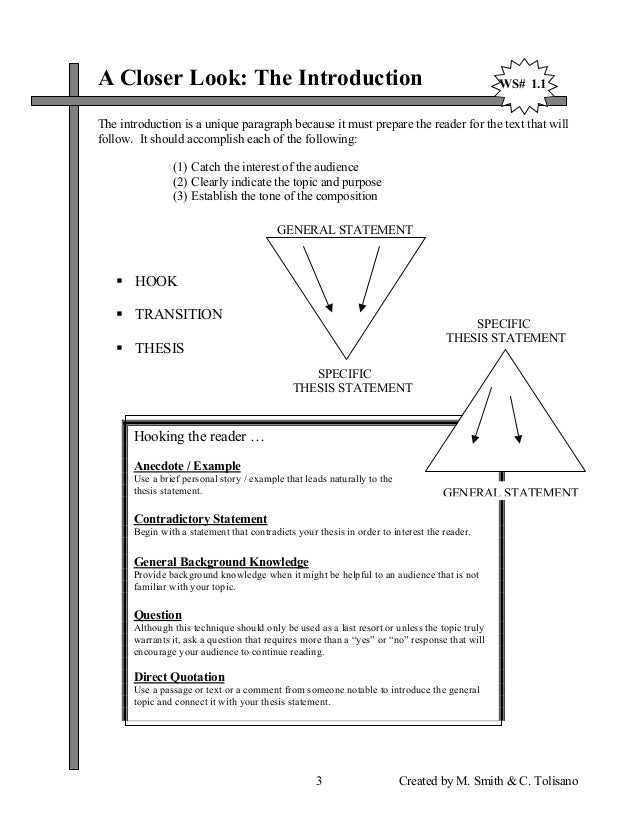 thesis statement template   Statement Information
