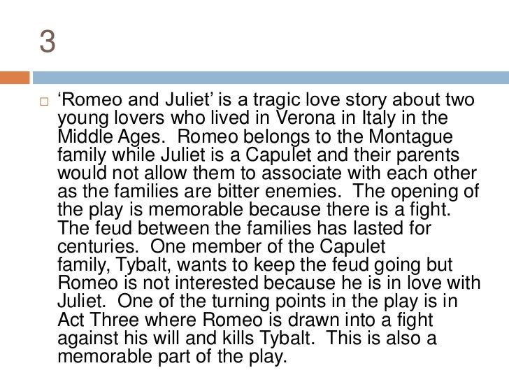 a short paper on the play romeo and juliet Romeo and juliet essay questions this is the most famous tragedy of shakespeare and one of the world's most lasting love stories the play's plot originated several sixteenth century.