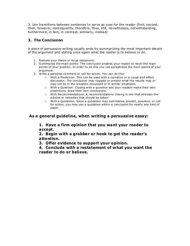 writing the persuasive essay 4 3