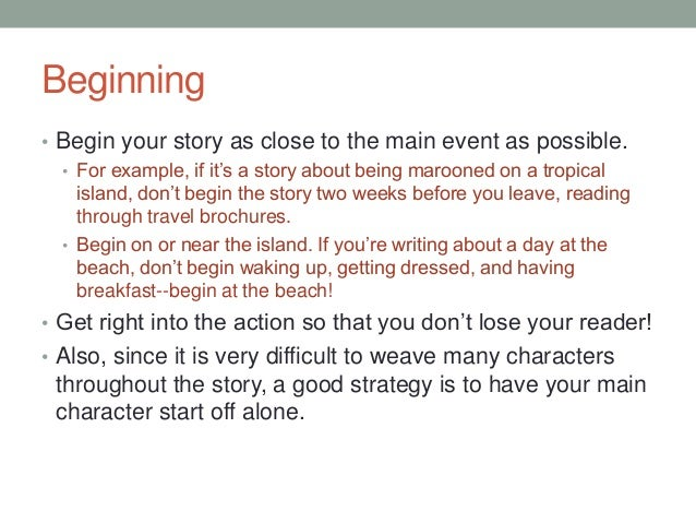 5 ways to start a story: Choosing a bold beginning
