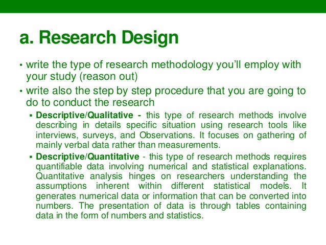 how to write a methodology thesis