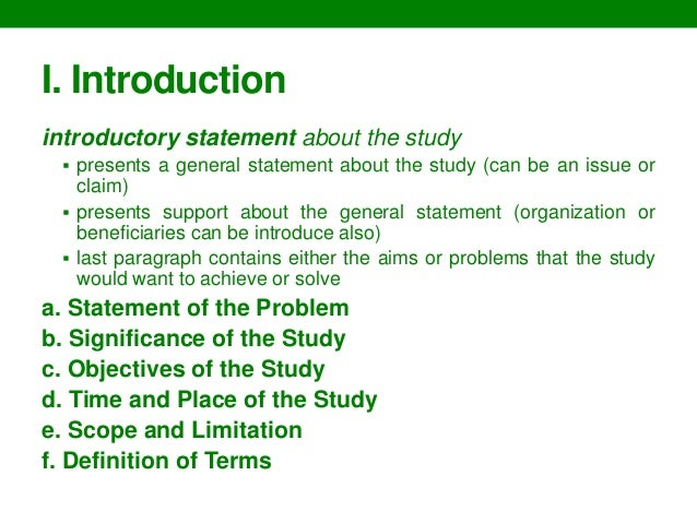 Parts of a dissertation chapter 4 introduction
