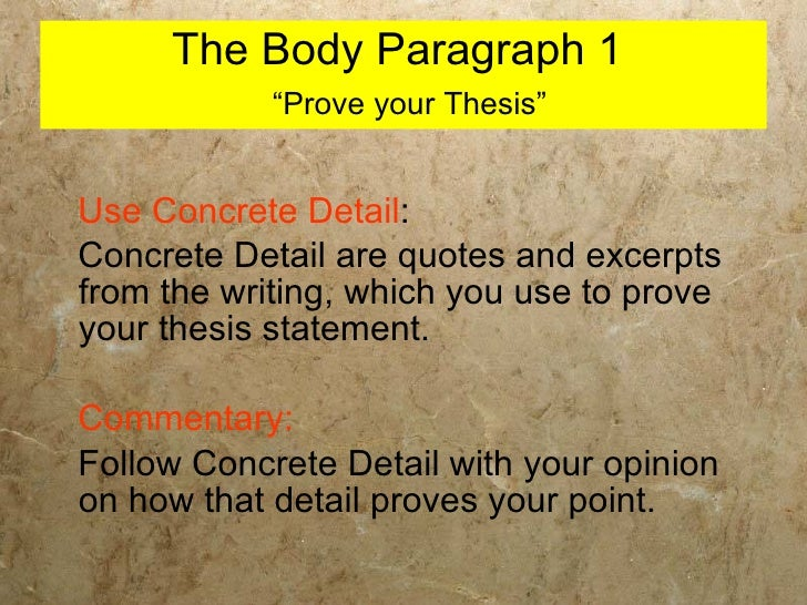 Thesis statement writing prompts