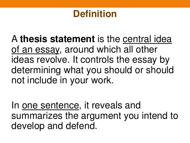 Definition of a essay