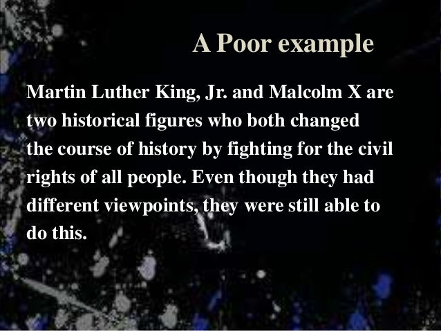 Thesis Statement on Speech of Martin Luther King, Jr.
