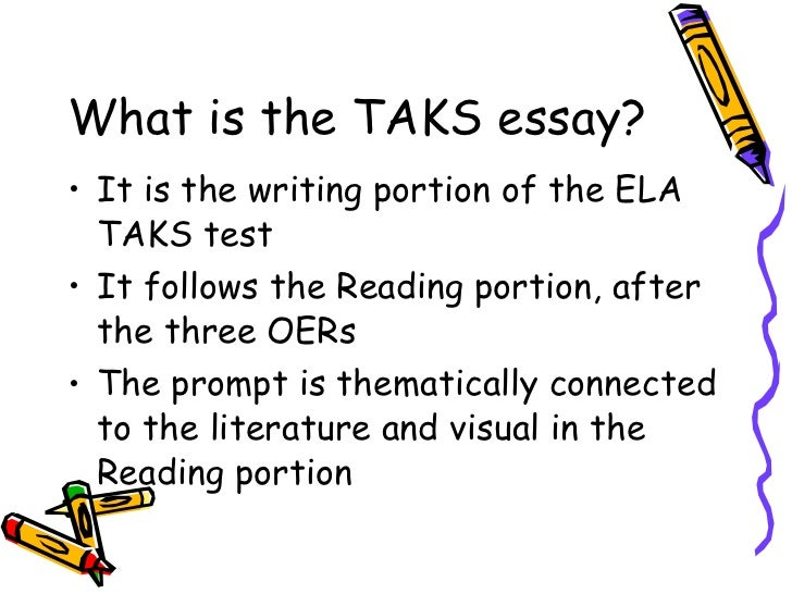taks essay prompts Tea releases two types of test questions for the taks test – sample questions  and test forms sample test questions are small subsets of test questions  released.
