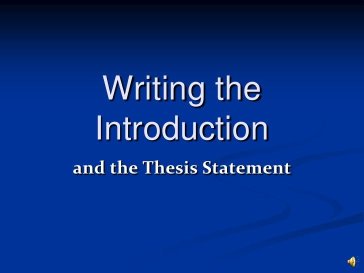 writing an introduction to a thesis paper