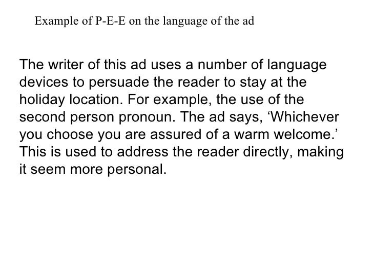 writing in 2nd person examples
