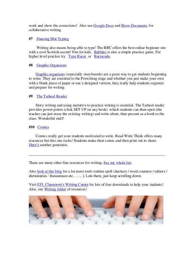 Websites to help students with writing