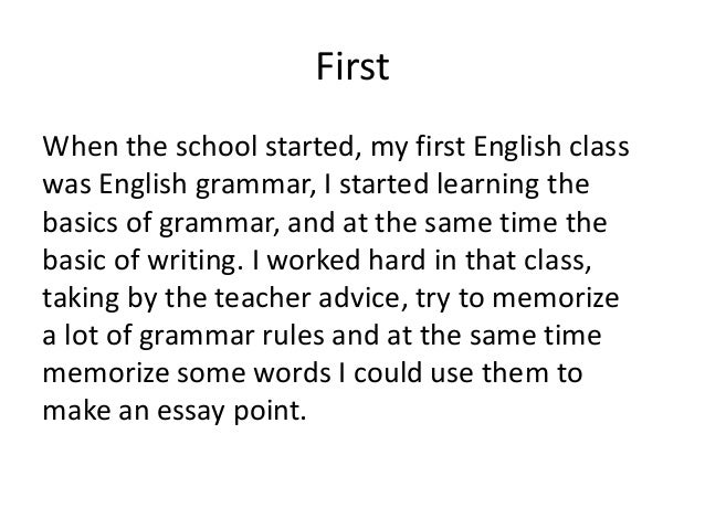 Charmant Writing When English Is Not My First Language Viola Gjylbegaj Firstwhen The  School Started My First