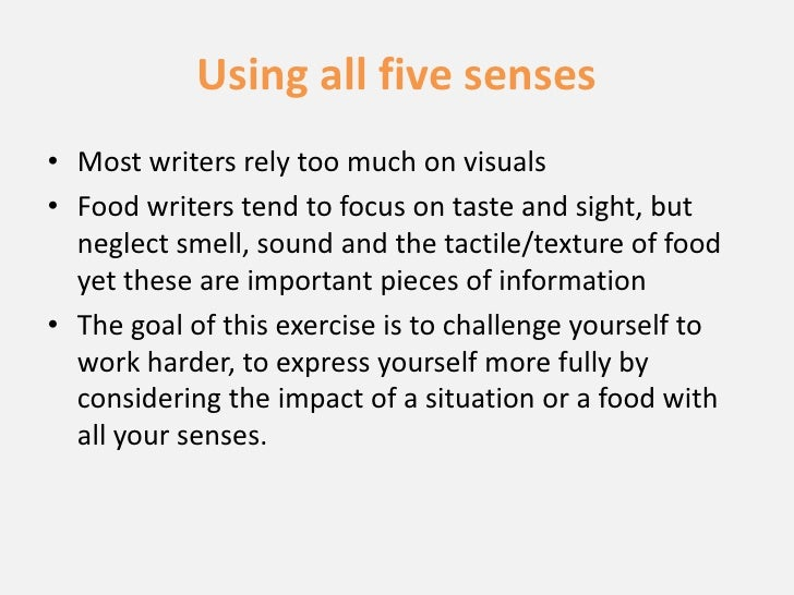 Five senses essay