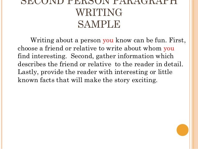 how to write a paragraph about a person