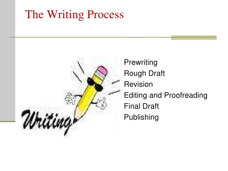 The Writing Process                     Prewriting                   Rough Draft                   Revision               ...
