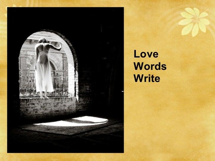 Love Words Write