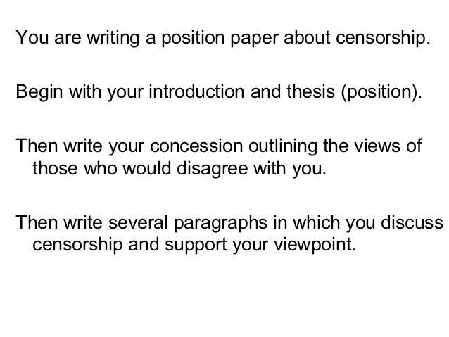Writing position paper