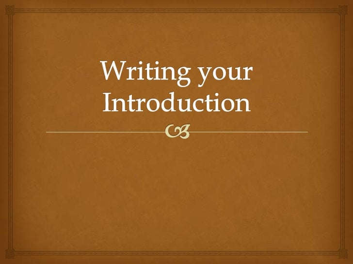 Introduction                   Four basic functions:       Refer to the audience,                               occasio...