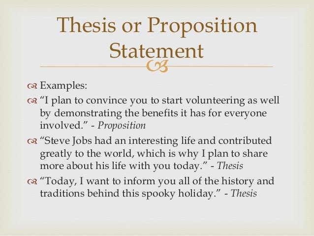 Thesis statement jobs