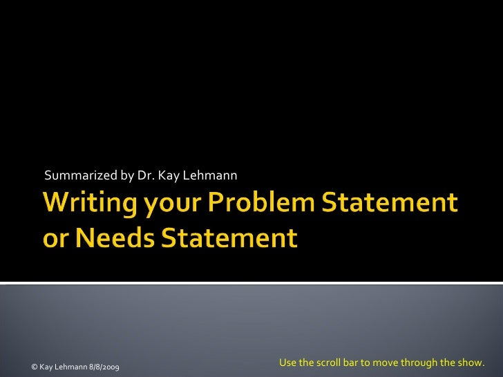 writing your problem statement, Modern powerpoint