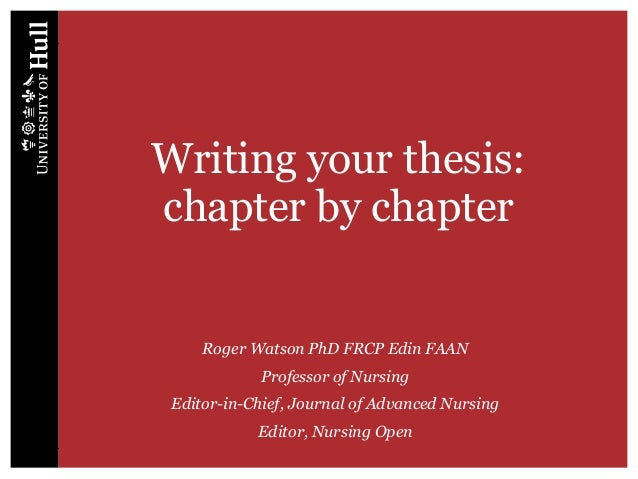 how to write a thesis chapter