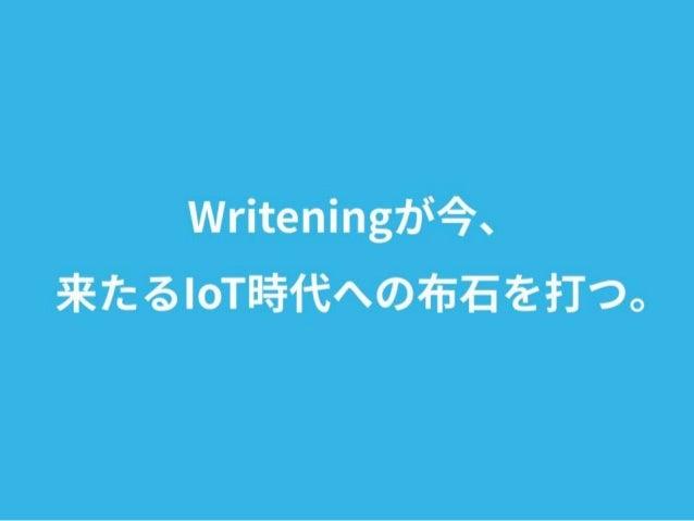 第25回 高専プロコン 自由部門 Writening