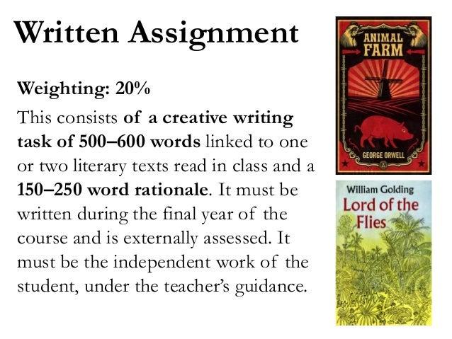 English written assignment
