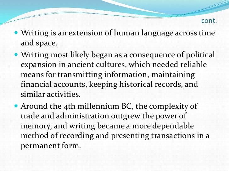 types of written communication
