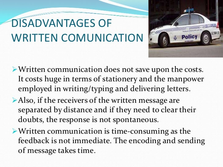 written communication 9 cont  effective written communication requires great skills