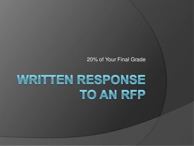 Written response to an rfp 2013 (3)