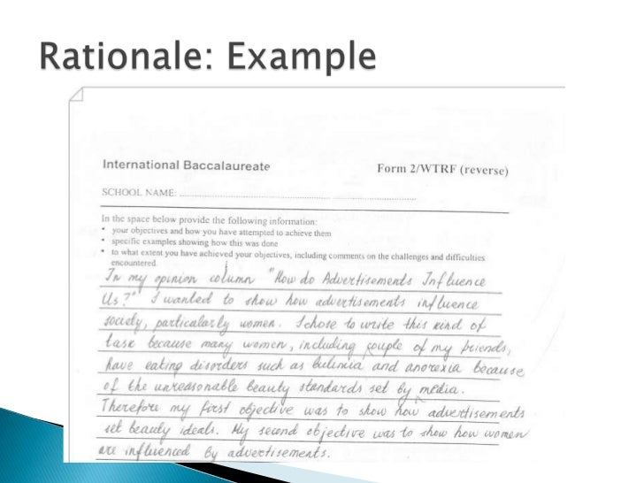 research rationale template