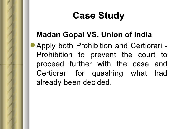 writ of prohibition definition