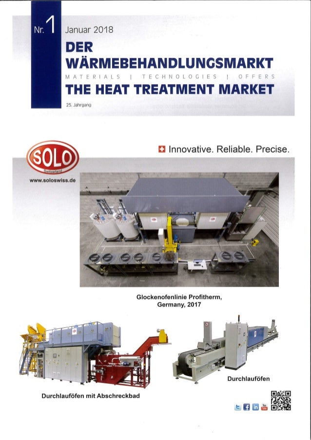 Der Wärmebehandlungsmarkt / The Heat Treatment Market - Edition 1/2018