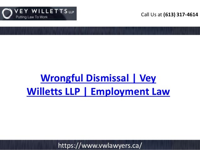 examples of wrongful dismissal