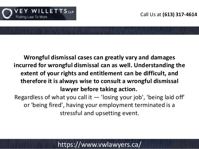 wrongful dismissal cases