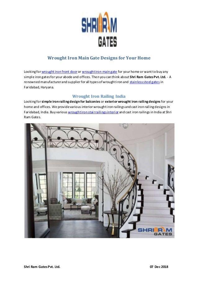 Wrought Iron Main Gate Designs - Shri Ram Gates