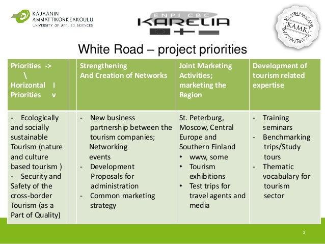 White Road - Cross-border Tourism Development Slide 3