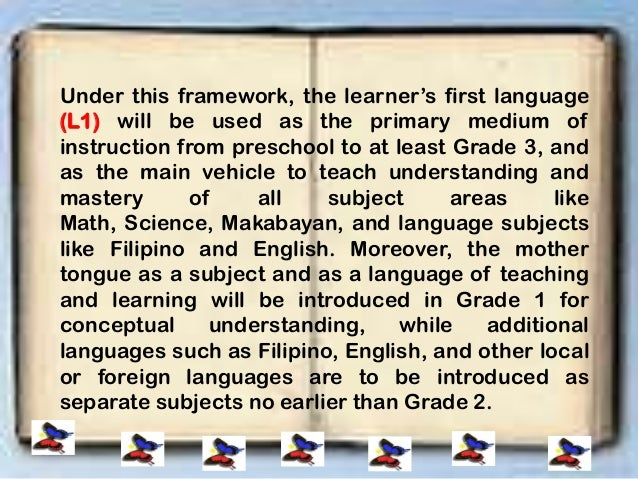 mtb mle an academic essay Good answers to tough questions in mother tongue-based multilingual education (mtb-mle): introduction 4 the questions beg for practical responses that can be implemented on-site rather than an academic.