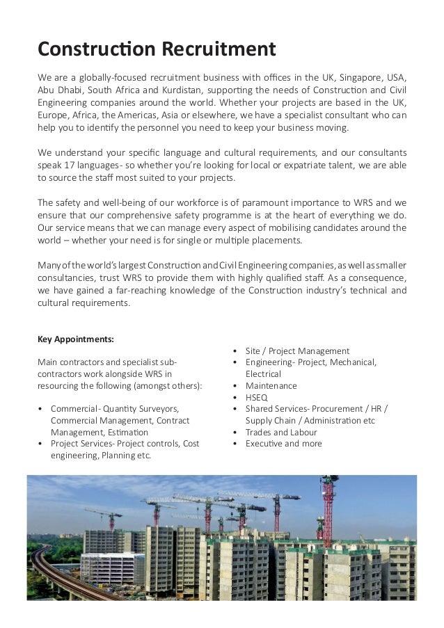 WRS UK - Construction & Civil Engineering Brochure