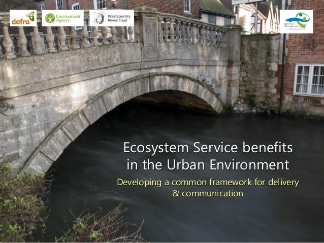Ecosystem Service benefits in the Urban Environment Developing a common framework for delivery & communication