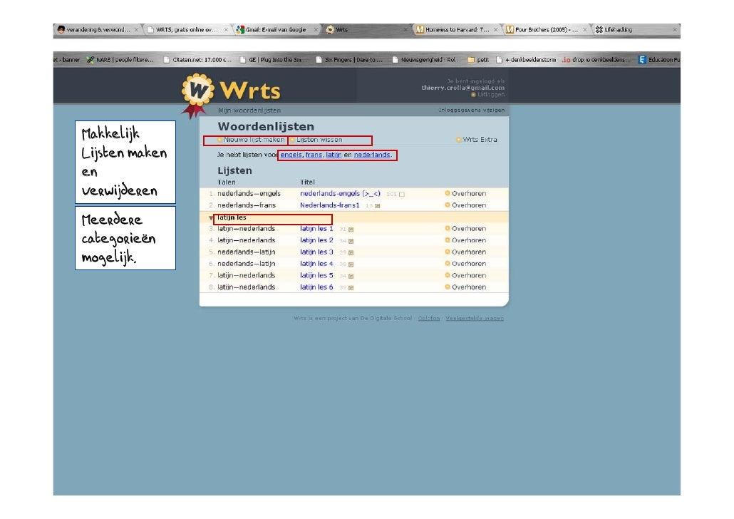 Makkelijk Lijsten maken en verwijderen Meerdere categorieën mogelijk.